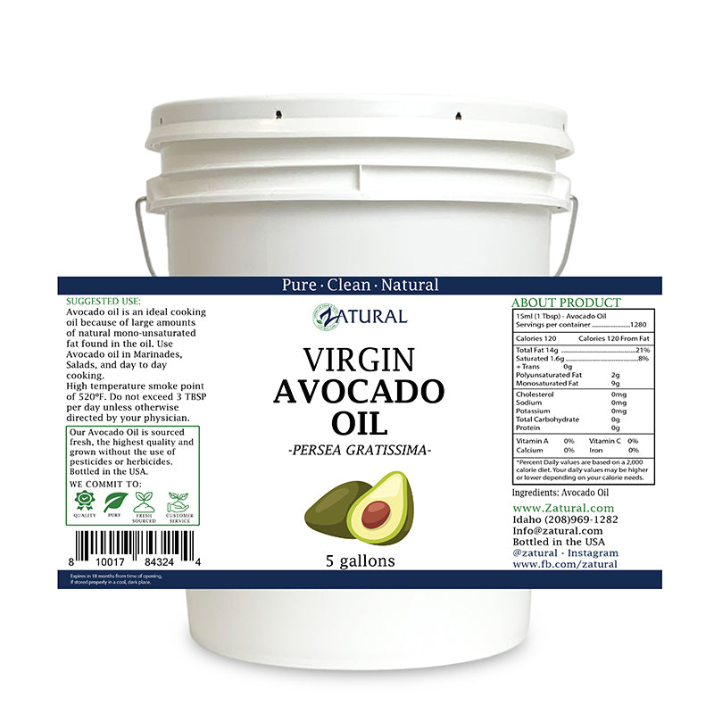 Zatural 5 Gallon Avocado Oil