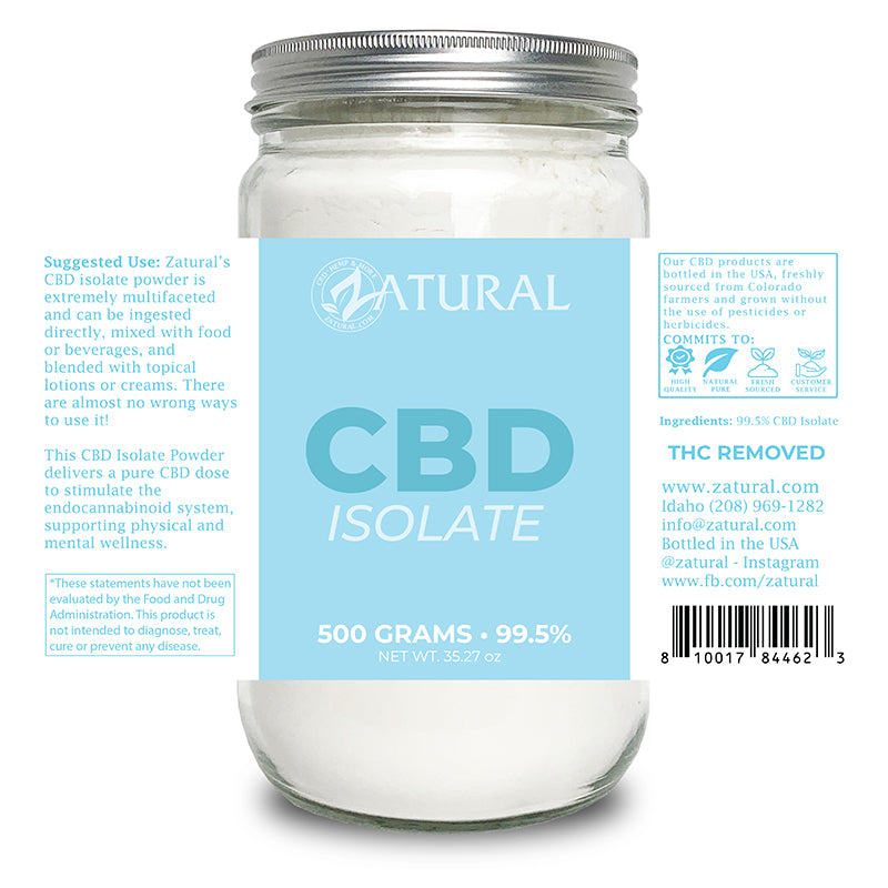 CBD Isolate Powder 500 Grams