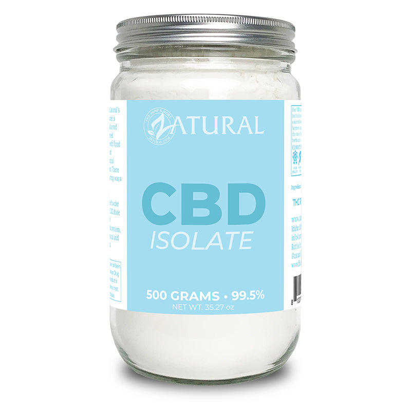 Zatural CBD Isolate Powder 500 Grams