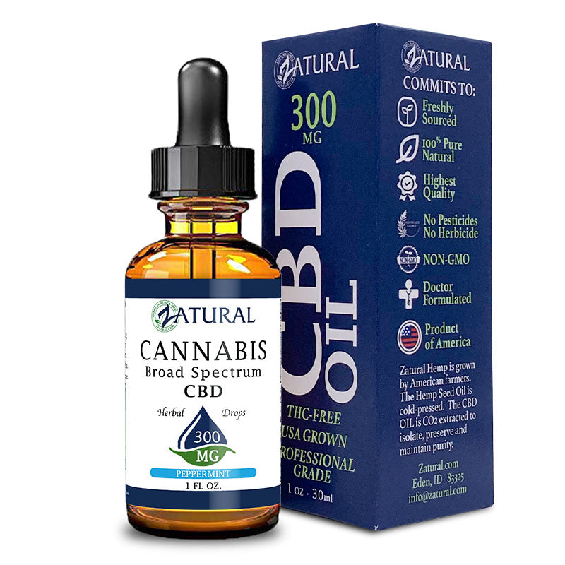 300mg Peppermint Flavored CBD Oil with Box