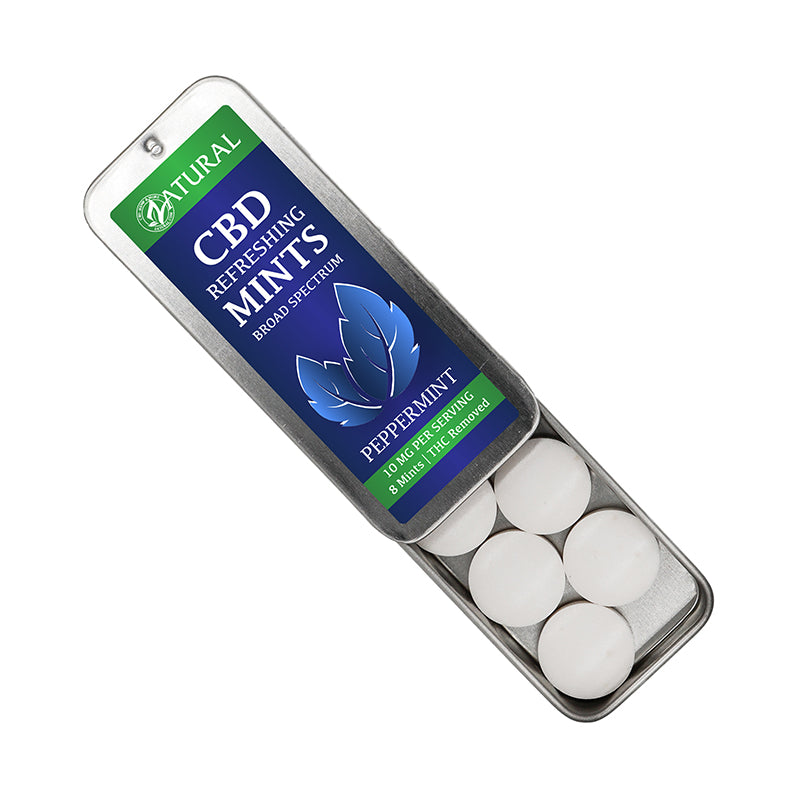 Peppermint CBD Breathe Mints