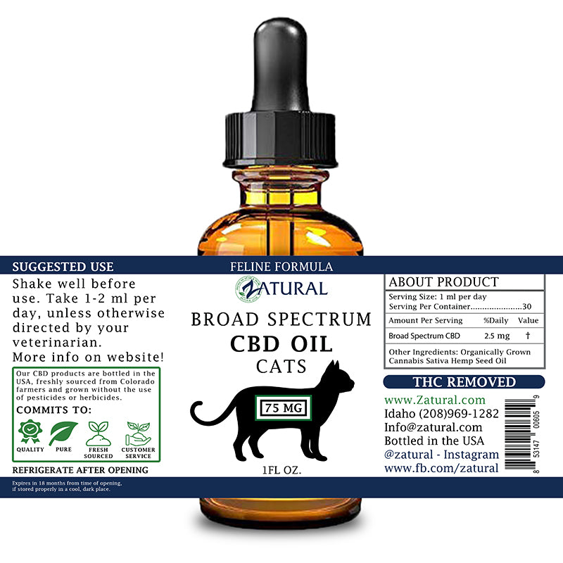 Zatural Feline CBD Oil 75mg
