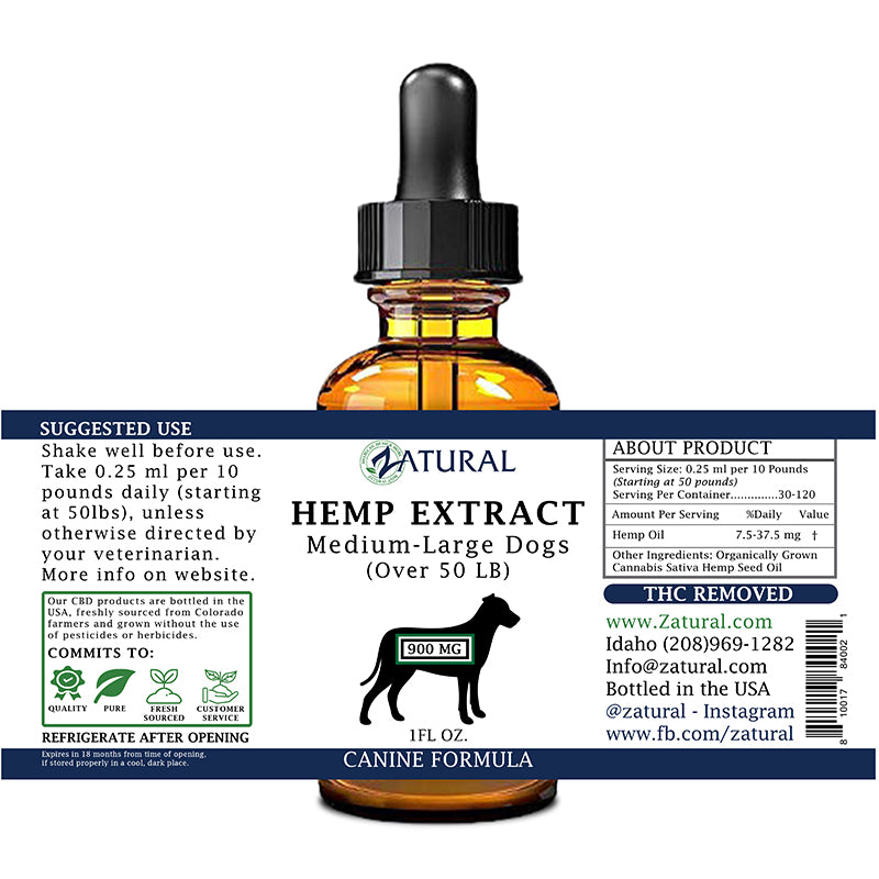 Full Spectrum*  Hemp Extract For Dogs
