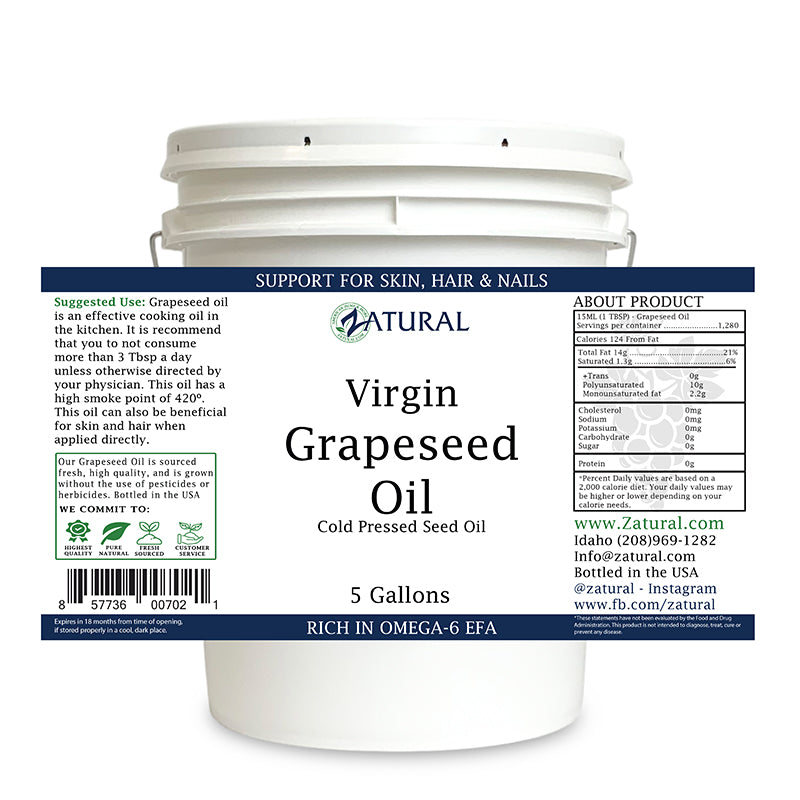 Grapeseed Oil - 100% Virgin