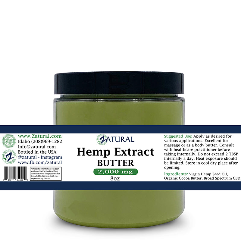 Zatural Hemp Extract Butter 2000mg