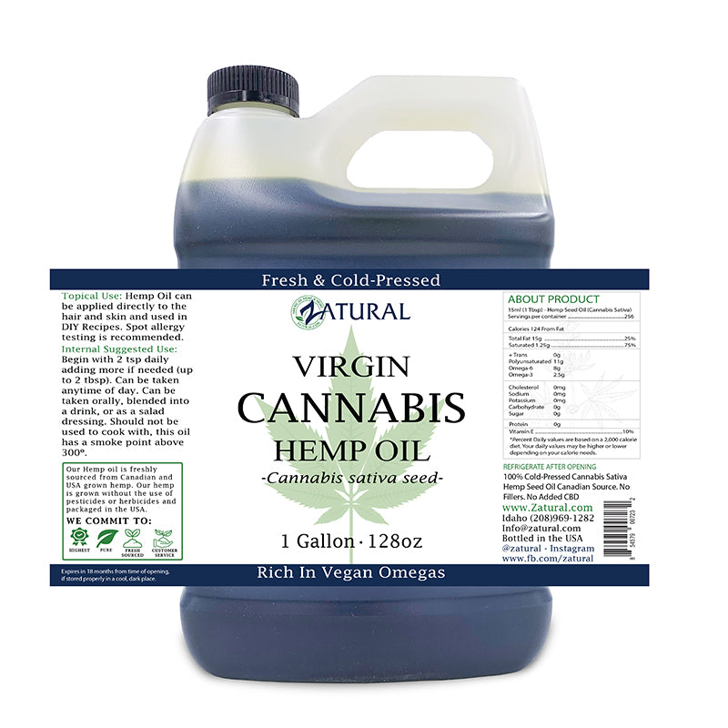 Zatural Hemp Seed Oil 1 gallon