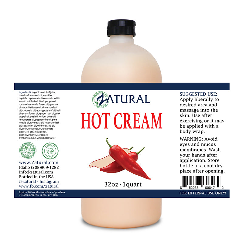 Zatural 32oz Hot Cream