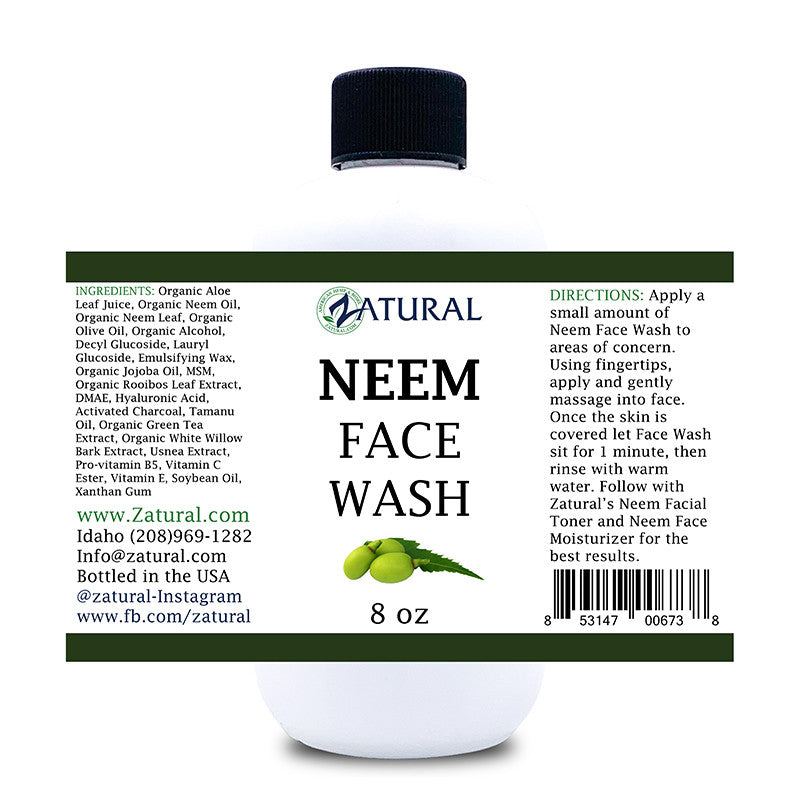 Zatural Neem Acne Face Wash