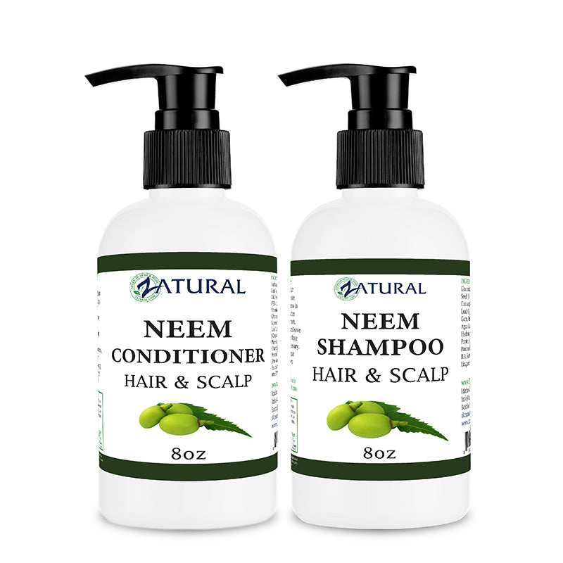 8oz Neem Conditioner and Shampoo Kit