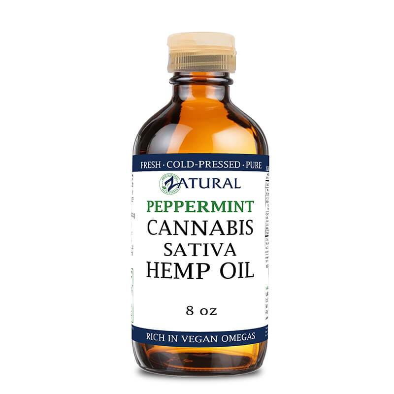 Peppermint flavored Hemp Oil 8oz