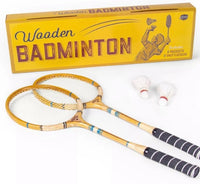 new Other Crown Legacy Wooden Badminton with 2 Racquets & 2 Shuttlecocks