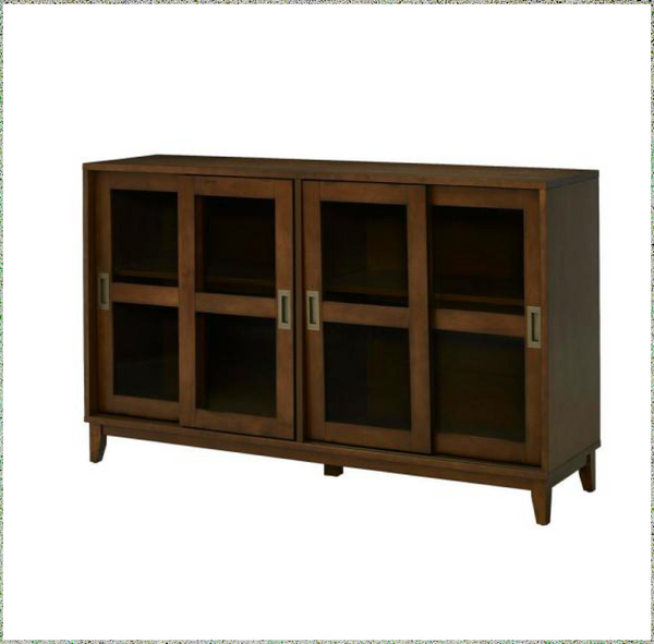 new Other Home Decorators Canonbury Sable Brown 56in. Wood Buffet Table with Glass Doors