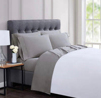 new London Fog Extra Soft 4 Piece Sheet Set TW/TXL - Gray