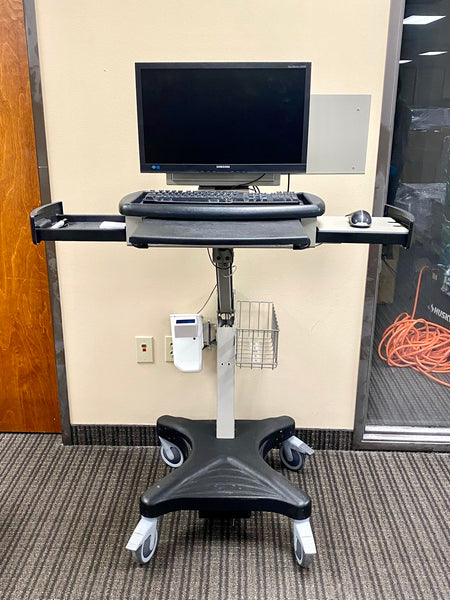 levitator 6040 Stinger Mobile Medical Height Adjustable Laptop Cart, Black/Gray