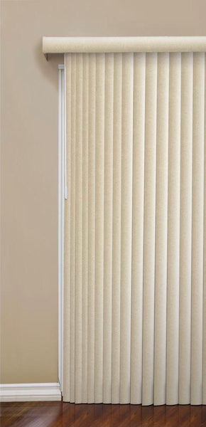 "New Design View Casa 3 1/2"" Vertical Blinds - Lagoon Stripe, 78"" x 84"""