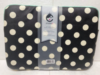 "new studio c 15""-16"" laptop sleeve black with white polka dots"