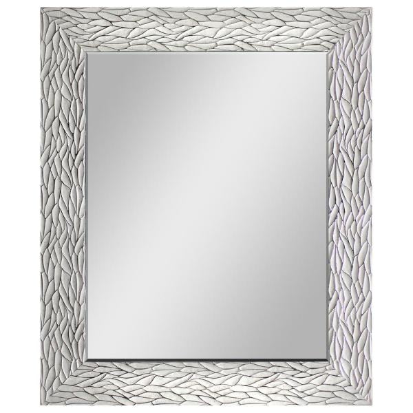 New Other Beautiful White with Silver Decorative Mirror