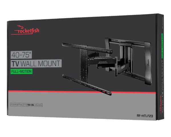 "New Other Rocketfish - Full-Motion TV Wall Mount for Most 40"" - 75"" TVs - Black"