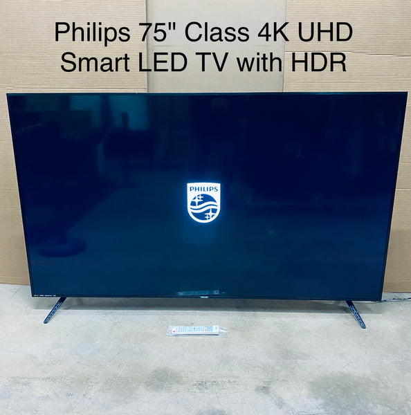 "Philips 75"" Class 4K UHD Smart LED TV with HDR, 75PFL5603/F7, Black"