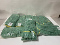 Lot of 9 New Synthetic Blend NB Loop End Green Mop A02814  X-Large