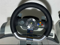 microsoft XBOX 360 Wireless Steering Wheel & Pedal, White/Gray