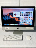 AApple iMac 21.5in. Late 2009 MB950B/A 4GB 500GB Core 2 Duo 3.06GHz with Wireless Keyboard and Mouse