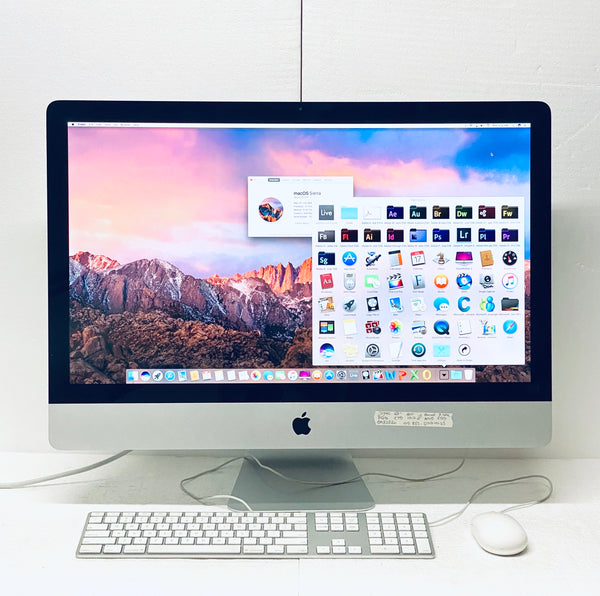 Apple iMac 27in. Mid 2011 MC812LL/A 8GB 1TB Intel Core i5 3.1GHz Grade A