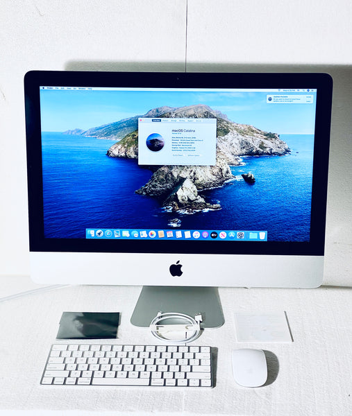 Apple iMac Retina 4K 21.5in. 2019 MRT32LL/A 8GB 1TB Quad-Core Intel Core i3 3.6GHz with Apple Magic Wireless Keyboard and Mouse 2