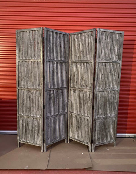 new Other Patina Screen SG-155A 7ft. x 7ft. Rustic Gray 4 Panel Room Divider