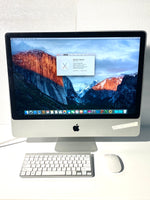 AApple iMac 24in. Early 2009 MB418LL/A 4GB 640GB Core 2 Duo 2.66GHz with Wireless Keyboard and Mouse