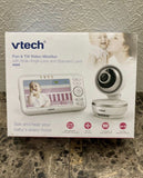 "New Other VTech VM5261 5"" Digital Video Baby Monitor with Pan & Tilt Camera, Wide-Angle Lens and Standard Lens, White"
