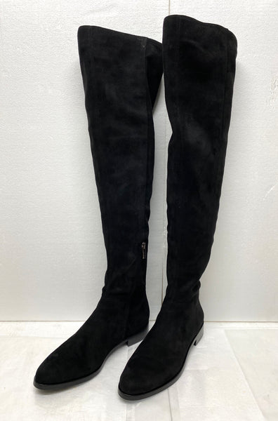 new Other Vince Camuta VC Hailie, Suede Over The Knee Boots Size 8M - Black