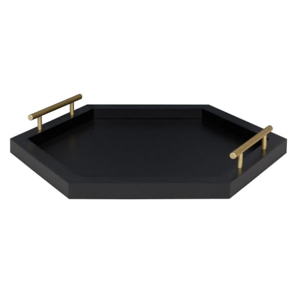 New Other Halsey Black Decorative Tray
