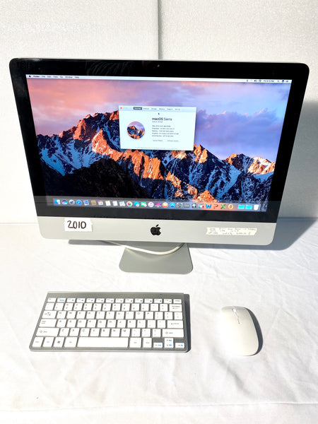 AApple iMac 21.5in. Mid 2010 MC509LL/A 4GB 1TB Core i3 3.2GHz with White/Silver Wireless Keyboard and Mouse