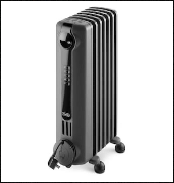 deLonghi 1500-Watt Oil-filled Radiant Compact Personal Electric Space Heater