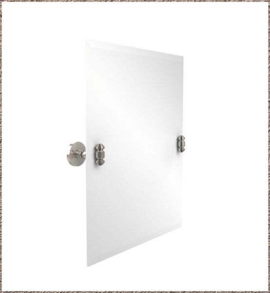 "New Other Allied Brass Frameless Rectangular 21"" x 26"" Tilt Mirror with Beveled Edge Polished Nickel"