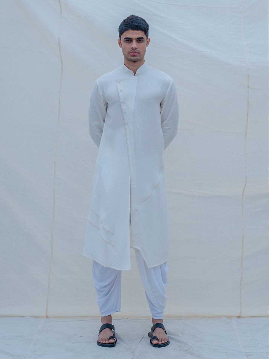 Off White Cotton Kurta - Bohame