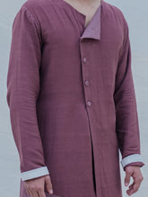 Load image into Gallery viewer, Cotton X Linen Mauve Kurta - Bohame