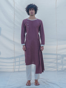 Cotton X Linen Brown Kurta - Bohame