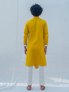 Cotton X Rayon Indisputably Yellow Kurta - Bohame