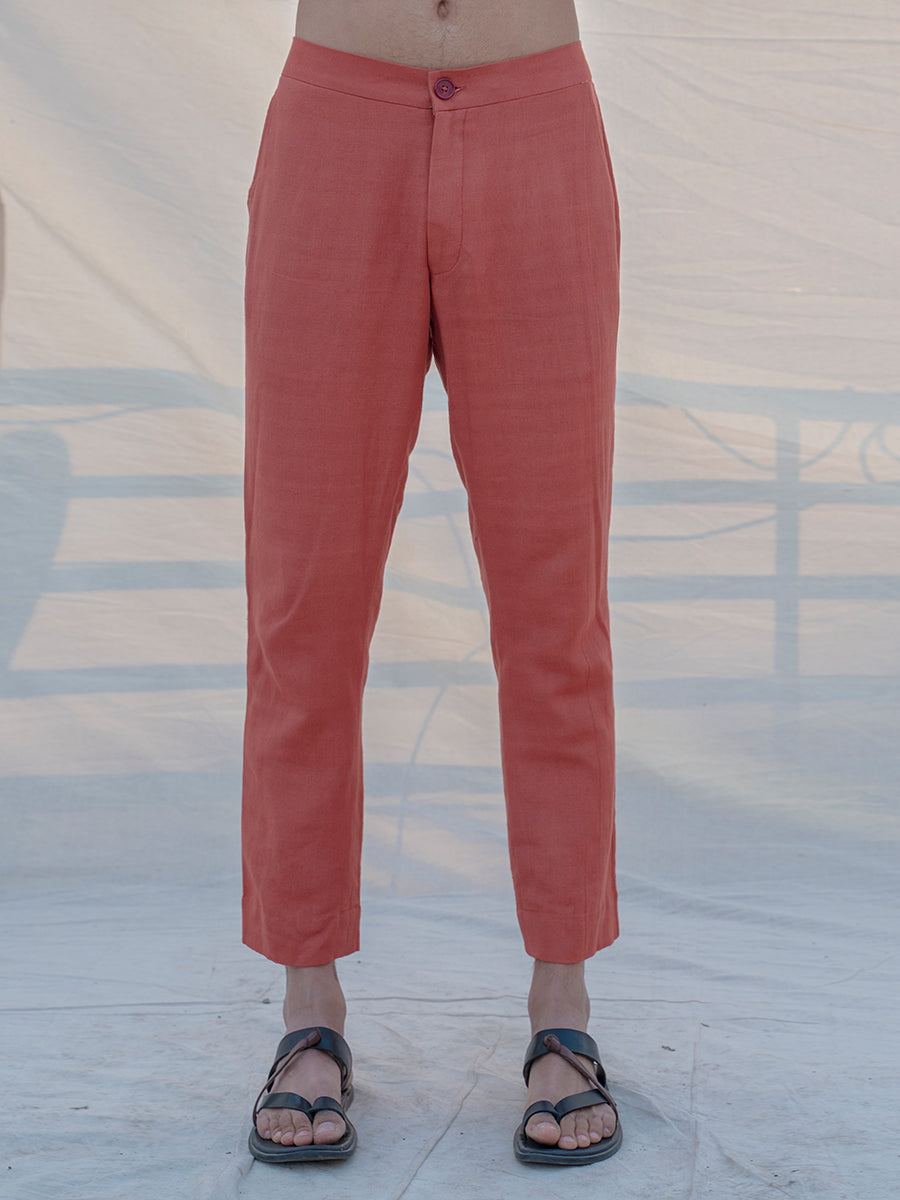 Cotton X Linen Coral & Mean Trouser - Bohame