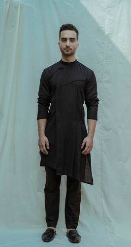 Cotton X Linen Asymmetry Pleated Kurta