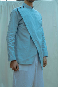 Overlapped Shirt Kurta Set - Bohame