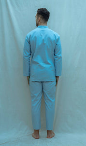 Overlapped Pintuck Shirt Set - Bohame