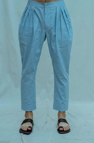 Cotton X Linen Pleated Pant