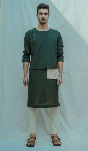 Cotton X Linen Surprise Panel Kurta