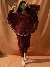 Load image into Gallery viewer, Opulent Poncho with Drape Dhoti Pants - Bohame