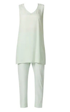 Load image into Gallery viewer, Embroidered Kaftan Mint Green Pant Set