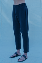 Load image into Gallery viewer, Cotton X Linen Black Trouser - Bohame