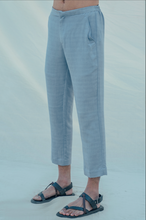 Load image into Gallery viewer, Cotton X Linen Sky Blue Trouser - Bohame